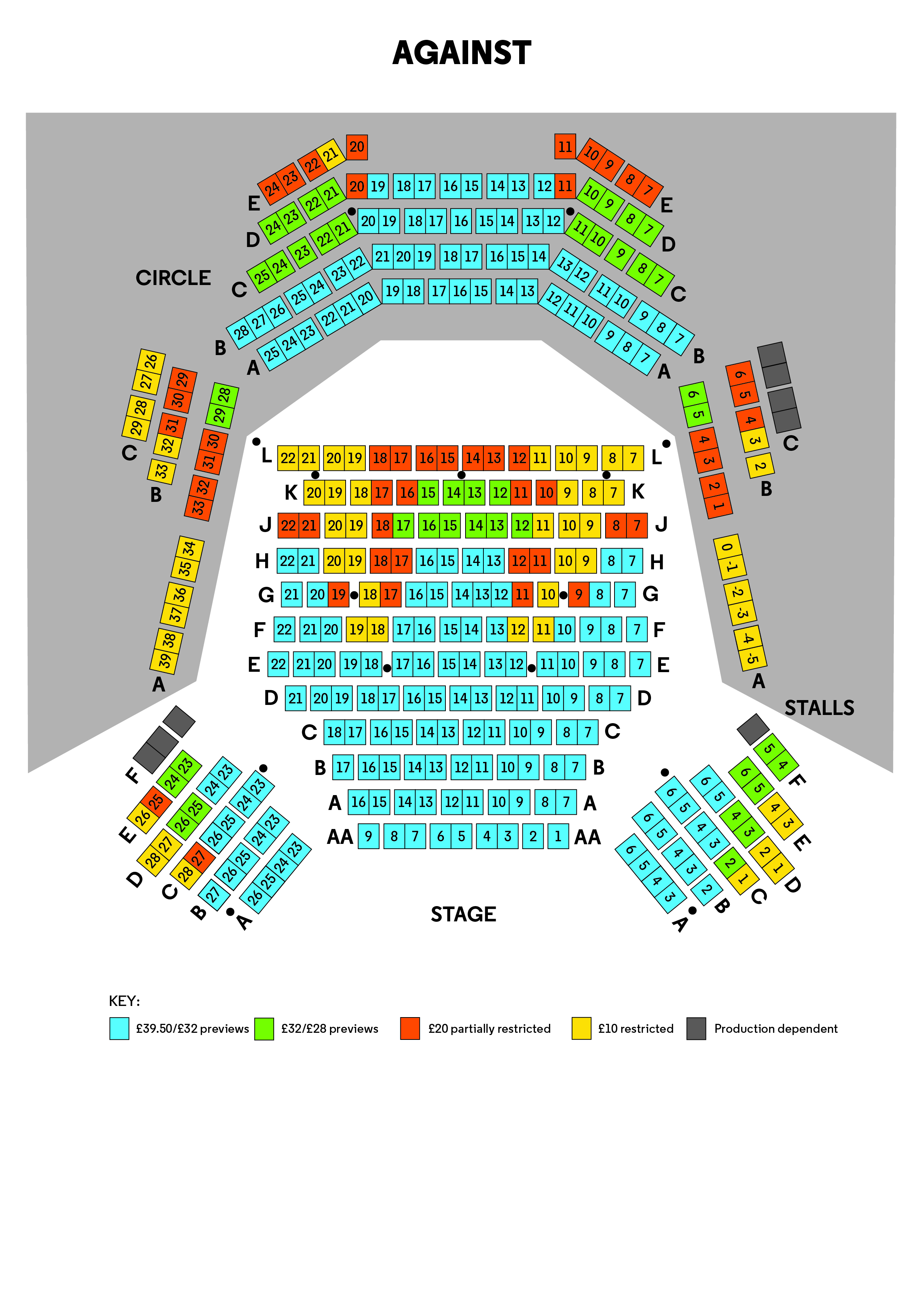 Seating Plan Against NEW